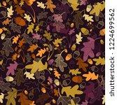 oak tree nuts pattern | Shutterstock .eps vector #1224699562