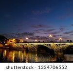 triana bridge  bridge of isabel ... | Shutterstock . vector #1224706552