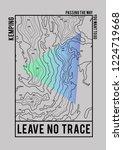cartography print for t shirt | Shutterstock .eps vector #1224719668
