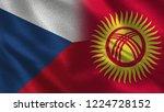 czech republic and kyrgyzstan   ... | Shutterstock . vector #1224728152