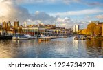 bristol harbour and the... | Shutterstock . vector #1224734278