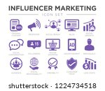 influencer marketing icon set.... | Shutterstock .eps vector #1224734518