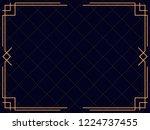 art deco frame. vintage linear...   Shutterstock .eps vector #1224737455
