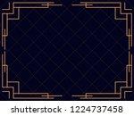 art deco frame. vintage linear...   Shutterstock .eps vector #1224737458