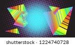 background triangles 80s. pop...   Shutterstock .eps vector #1224740728