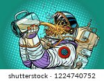 astronaut mutant  thirst for... | Shutterstock .eps vector #1224740752