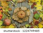 homemade tasty millet porridge. ... | Shutterstock . vector #1224749485