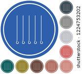 skewers set icon. vector... | Shutterstock .eps vector #1224753202