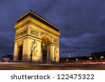 arc de triomphe  charles de...   Shutterstock . vector #122475322