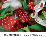 festive christmas holiday red ... | Shutterstock . vector #1224753772
