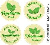 organic food  farm fresh and... | Shutterstock .eps vector #1224755242