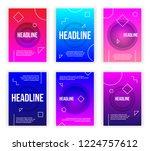 trendy flyer modern poster... | Shutterstock .eps vector #1224757612