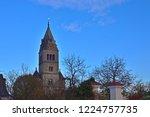 purely romanesque st. gallus... | Shutterstock . vector #1224757735