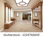 foyer in a luxury house in a... | Shutterstock . vector #1224760645
