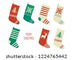 holiday merry christmas card....   Shutterstock .eps vector #1224765442