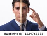 concept of face recognition...   Shutterstock . vector #1224768868