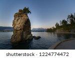 landmark siwash rock along the...   Shutterstock . vector #1224774472