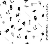 hand drawn fishing elements.... | Shutterstock .eps vector #1224775192
