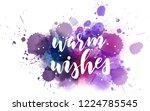 warm wishes   decorative... | Shutterstock .eps vector #1224785545