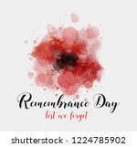 remembrance day. lest we forget.... | Shutterstock .eps vector #1224785902