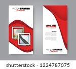 narrow flyer and leaflet design.... | Shutterstock .eps vector #1224787075