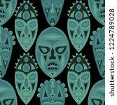 seamless pattern. tribal... | Shutterstock .eps vector #1224789028