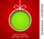 abstract xmas greeting card... | Shutterstock . vector #122480326