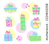 illustration  colorful gift... | Shutterstock . vector #1224810208