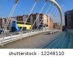 James Joyce modern bridge in Dublin, Ireland. - stock photo