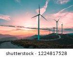 Wind Turbines On Beautiful...