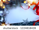 christmas gift boxes with red... | Shutterstock . vector #1224818428