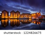 gloucester docks at night with... | Shutterstock . vector #1224826675