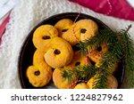swedish christmas. gluten free...   Shutterstock . vector #1224827962