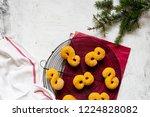 swedish christmas. gluten free... | Shutterstock . vector #1224828082
