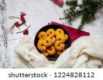swedish christmas. gluten free...   Shutterstock . vector #1224828112