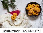 swedish christmas. gluten free...   Shutterstock . vector #1224828115