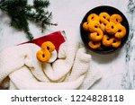 swedish christmas. gluten free...   Shutterstock . vector #1224828118