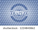 trapeze blue badge with... | Shutterstock .eps vector #1224843862