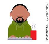 cartoon vector icon of computer ... | Shutterstock .eps vector #1224847048