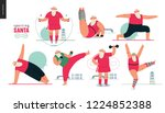 sporting santa   gym exercises  ... | Shutterstock .eps vector #1224852388