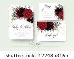 wedding invite invitation  rsvp ... | Shutterstock .eps vector #1224853165