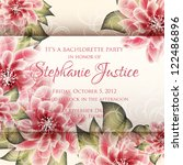 wedding card or invitation with ... | Shutterstock .eps vector #122486896