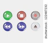 media player buttons | Shutterstock .eps vector #122487232