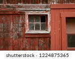 Weathered Red Paint And Broken...