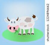 gray white vector cartoon...   Shutterstock .eps vector #1224896662