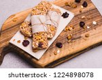 healthy granola bars with... | Shutterstock . vector #1224898078