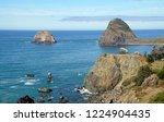 sea stacks at low tide near... | Shutterstock . vector #1224904435