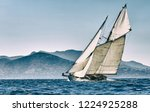 sailing yacht race. yachting.... | Shutterstock . vector #1224925288