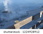lakeshore geyser at the trail... | Shutterstock . vector #1224928912