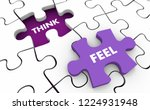 think vs feel logic emotion...   Shutterstock . vector #1224931948